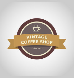 Coffee shop vintage badge style vector