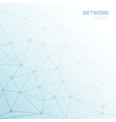 Social or technology network background vector image