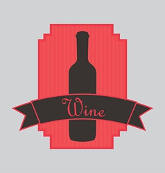 Wine bottle design vector
