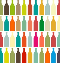 Background bottles vector