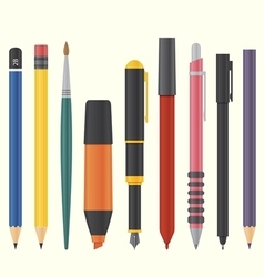 Drawing and writing tool set vector