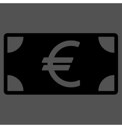 Euro banknote icon from business bicolor set vector