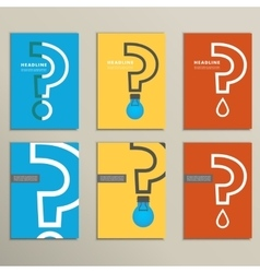 Flat question mark with a light bulb vector