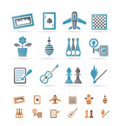 Hobby and holiday objects vector