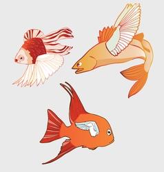 fantastic flying fish vector image