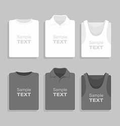 Folded t-shirts set vector