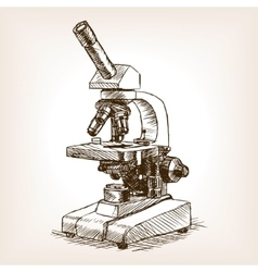 Microscope sketch style vector