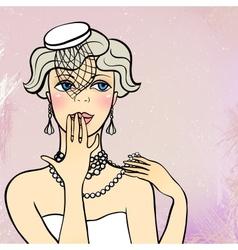 A flapper girl vector