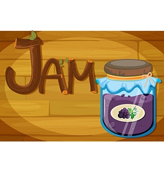 A wooden frame with a jam vector image vector image