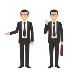 A young businessman vector