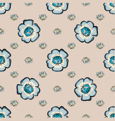 Abstract floras pattern background vector