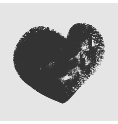 Cliche of black heart on a white background vector image vector image