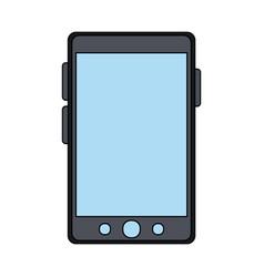 color graphic smartphone device icon vector image