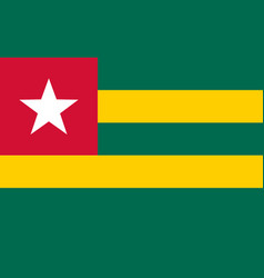 Colored flag of togo vector
