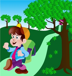 cute boy vector image