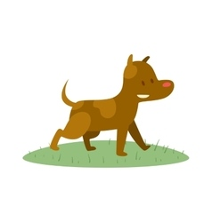 Cute cartoon puppy dog animal pet character vector image