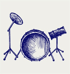 Drum set vector image vector image