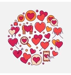flat love vector image vector image