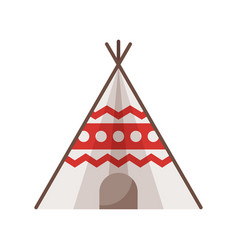 Flat style of wigwam vector