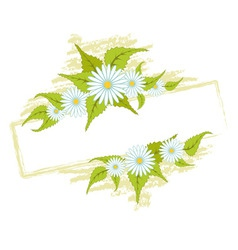 frame with field daisies vector image vector image
