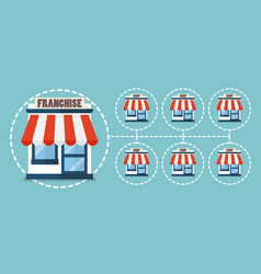 franchise business in flat style vector image
