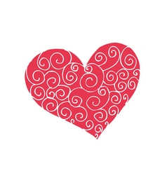 funny doodles heart vector image
