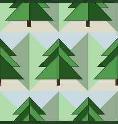 good seamless firs forest pattern vector image vector image