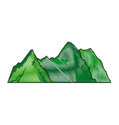 Green mountain natural landscape image vector