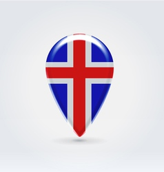 Icelandic icon point for map vector image
