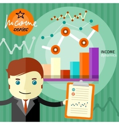 Income dynamics concept vector image