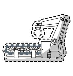 Industrial robot icon vector