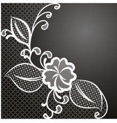 Lace corner white vector