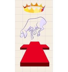 lamb of god vector image
