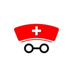 Medical logo icon healthy concept glasess vector