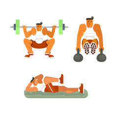 men does the press exercises vector image