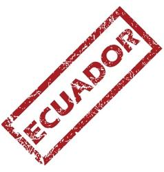 New ecuador rubber stamp vector
