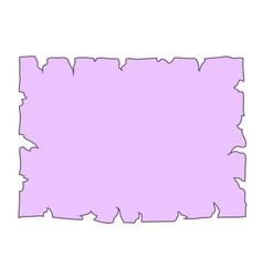 Parchment paper blank document cartoon vector image