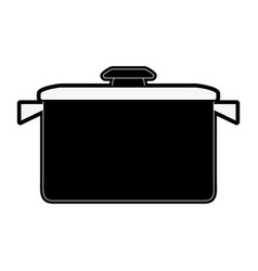 pot kitchen supplies icon image vector image