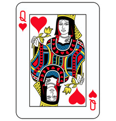 Queen of hearts french version vector