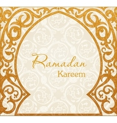 Ramadan Kareem greeting background Arch vector image vector image