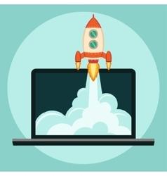 Rocket Start up concept vector image vector image