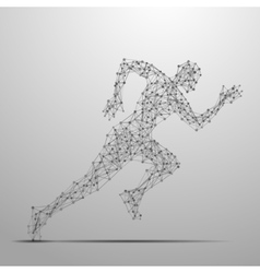 Running man polygonal vector image