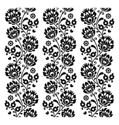 Seamless traditional folk polish pattern in black vector image vector image
