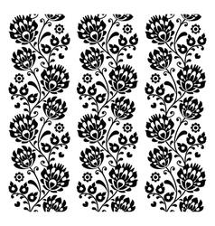 Seamless traditional folk polish pattern in black vector