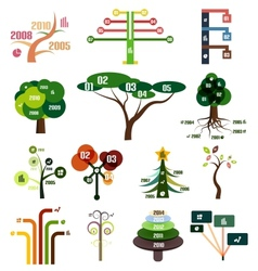 set of tree infographic design templates vector image vector image