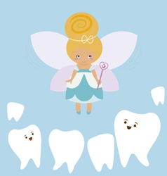 Tooth fairy cartoon vector