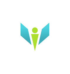 victory man logo vector image