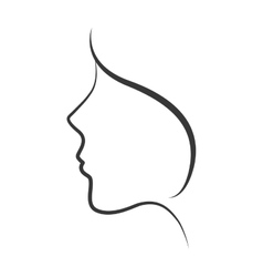 girl woman female face avatar icon graphic vector image