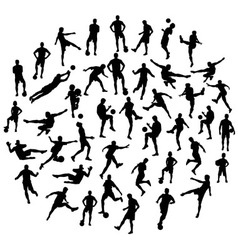 Football sport activity silhouettes vector
