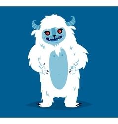 Cute yeti biigfoot monster set vector image
